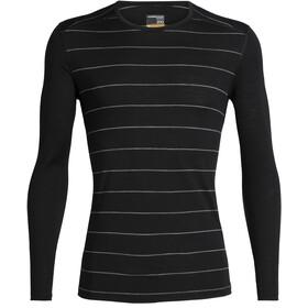 Icebreaker 200 Oasis LS Crewe Shirt Herr stripe black
